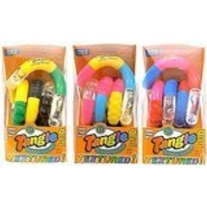 Set of 3! Tangle Jr Textured Sensory Fidget Toy (Color May Very) by Tangle Creation Tangle Textured