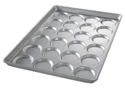 Chicago Metallic - 42495E - 25-11/16 x 17-11/16 Aluminized Steel Bun and Roll Pan, Shiny Gray