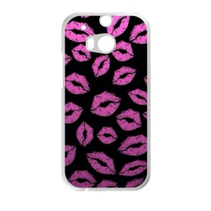 Rose Red Lip Print HTC ONE M8 Case Customize Parttern Design - Hard Plastic Cover Case Protection for plastic HTC ONE M8 Case