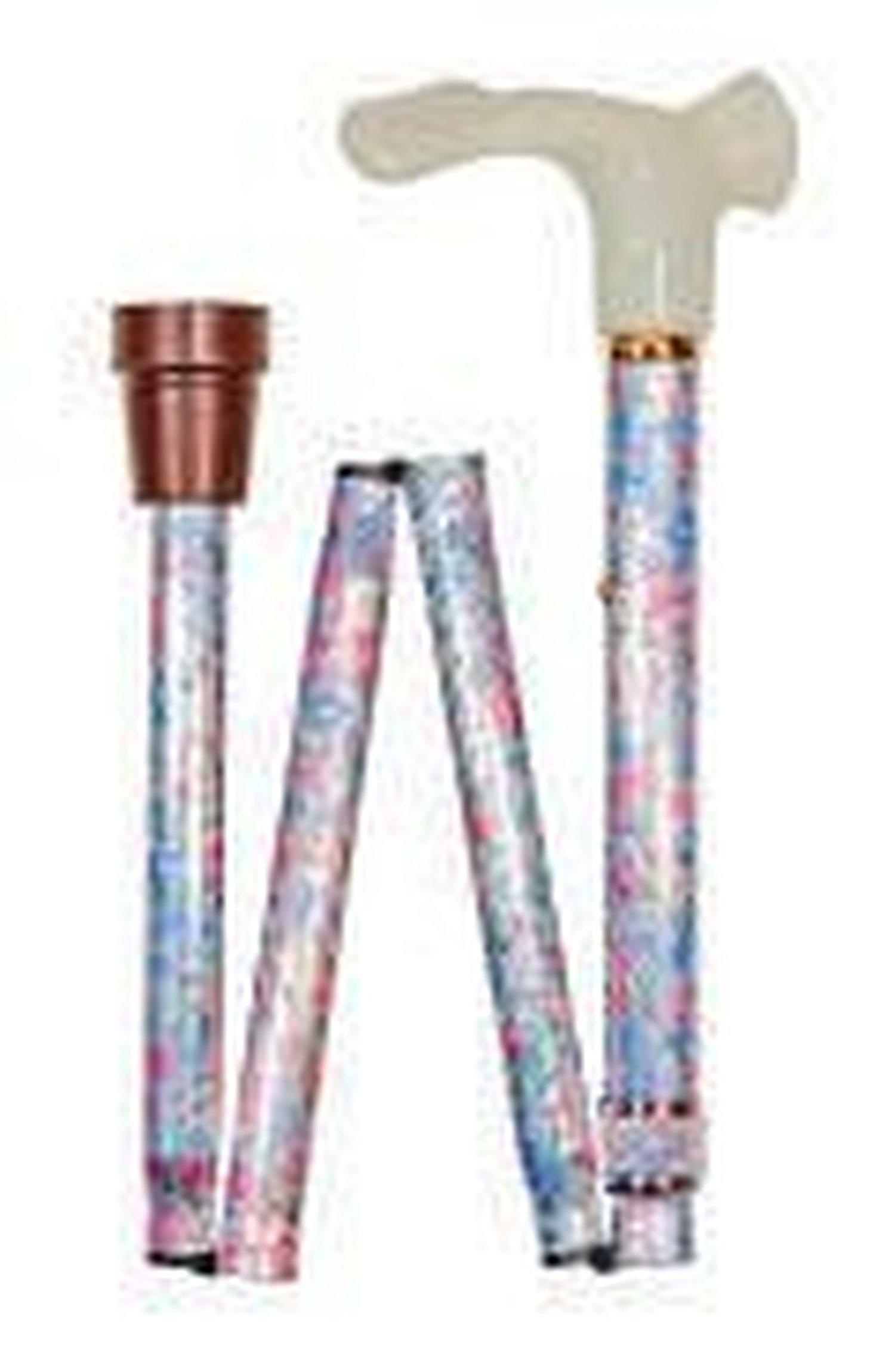 Orthopaedic floral walking stick - RHS by Classic Canes