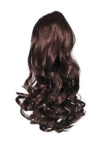 Love Hair Extensions Gushy Bird Crocodile Clip Synthetic Hair Ponytail Colour 2 Dark Brown 14 -Inch by Love Hair Extensions
