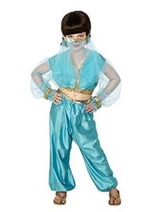 Girls Belly Dancer Arabian Princess Jasmine Genie Aladdin Fancy Dress Costume MEDIUM 7-9 YEARS by Star55