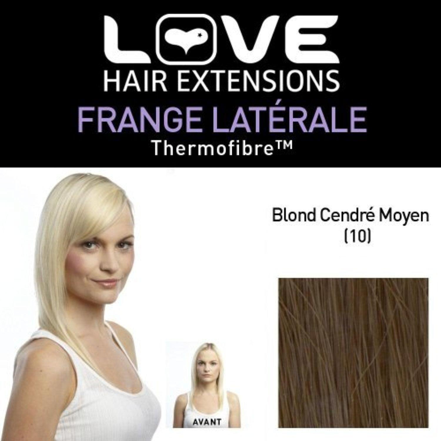 Love Hair Extensions LHE/FRK1/QFC/CISF/10 Clip-In Side Fringe Thermofibre Colour 10 Medium Ash Brown by Love Hair Extensions
