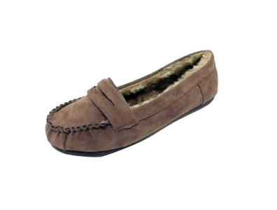 Women's Moccasin Indoor/OutdoorSlipper Loafer Faux Fur Suede Shoes (Mocassin-11) Camel 9