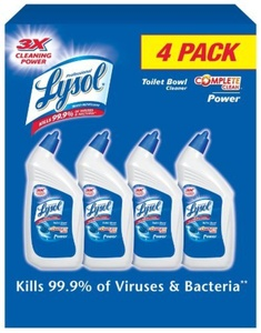 Lysol Power Toilet Bowl Cleaner Value Pack, 128 Ounce by Lysol
