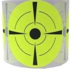 Pop Resin Target Stickers (Qty 250pcs 3