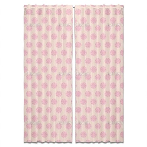 Bonbons Pink Curtain: 40 x 54 inch panel pair Window Treatment for Living Room Bed Room