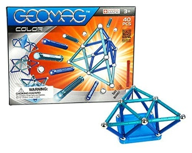 geomag 40 piece color construction set with assorted panels mentally stimulating for children and - Geomag Color 64 Pieces