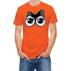 Tshirt Cartoon eyes expression Orange L