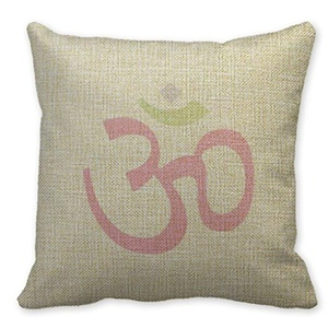 Mooninght Ohm Yogasign Cushion Throw Linen Pillowcase