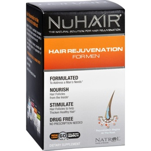 2Pack! NuHair Hair Regrowth for Men - 60 Tablets