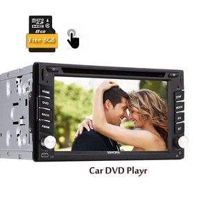 Universal Capacitive Touch Screen 2 Din Car Audio Stereo Head Unit GPS Navigation Car DVD CD MP3 Player 6.2 inch In dash Car Radio Support FM AM RDS 8GB GPS Map Card Ipod with Remote Controller