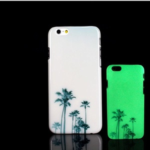 iPhone 7 Case, Glow in the Dark Palm Tree Hawaii Pattern TomCase Fluorescent Back Cover for iPhone 7 Case 4.7 inch, P18
