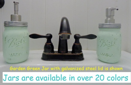 Double Painted Green Mason Jar Soap Dispenser,Hand Sanitizer Dispenser,Soap Dispenser,Mason Jar Decor,Kitchen Decor,Vintage,Mason Decor