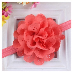 Lovely Sweet Newborn Kids Baby Girl Flower Headband Hair Band Headwear Accessory Colors:Watermelon Red