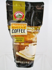 Mountain High Premium Roasted Ground Coffee - French Vanilla Flavor - Weight 6 oz (170 g) - Makes up to 40 Cups