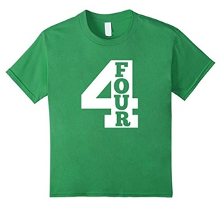Kids Kids Four Year Old Shirt - 4th Birthday Party T-Shirt 6 Grass