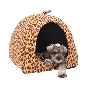 J&D Dogs Leopard Shark Sheared Plush Dog and Pet Bed Yellow