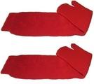 Japanese Ninja Tabi Socks RED - 1 PAIR Senior (UK 7-11) by TABI TOE SOCKS