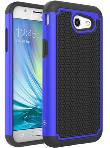 Galaxy J3 Emerge Case, LK [Shock Absorption] Drop Protection Hybrid Armor Defender Protective Case Cover for Samsung Galaxy J3 Emerge (Blue)