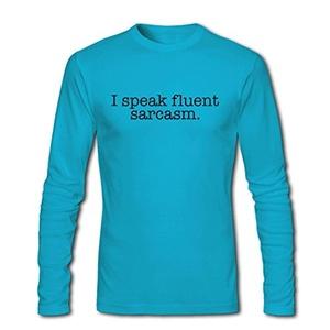I speak fluent Sarcasm Black Logo Printed For Mens Long Sleeves