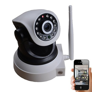 Qworld 720P HD Wireless IP Camera Pan/Tilt WiFi IP Security Camera Home Surveillance Camera Remote Network Webcam (Day/Night Vision,2 Way Audio, SD Card Slot, Alarm, Mobile Android/iOS/iPhone/iPad/Tablet)