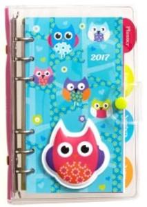 2017 Puffy Owls Vinyl Organizer Weekly Engagement Planner / Calendar