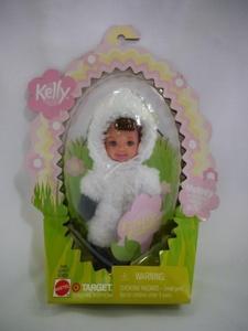 kelly easter eggie melody dressed as lamb by Barbie