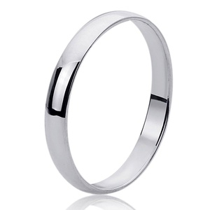 Free Engraving Personalized Sterling Silver 4mm Domed Wedding Band Ring