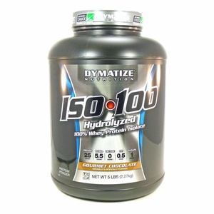 Bundle - 2 Items : 1 ISO 100 Gourment Chocolate by Dymatize - 5 Pounds and 1 VDC Shaker Cup