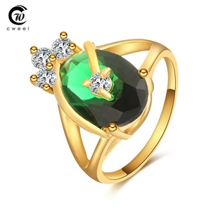Slyq Jewelry Big Ring Engagement Wedding Gold Plated Men Crystal CZ Flower Drop Bridal Holiday Ring Set