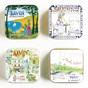 Vintage-Style French Lavender Soap Tins