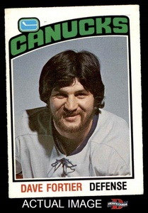 1976 O-Pee-Chee NHL # 328 Dave Fortier Vancouver Canucks (Hockey Card) Dean's Cards 5 - EX
