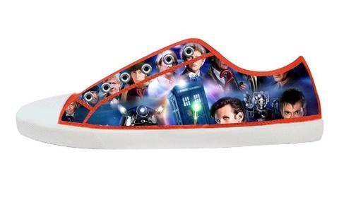 Movie Doctoc Who Men's Low Top Canvas Shoes-10M(US)