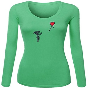 Linksy for Women Printed Long Sleeve Cotton T-shirt