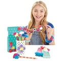 Pom Pom Wow! Starter Pack 45 Pom Poms In 7 Different Colors for your Arts and Crafts! NEW!