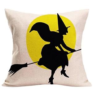 Iuhan® Fashion Halloween Pillow Case Sofa Waist Throw Cushion Cover Home Decor (E)