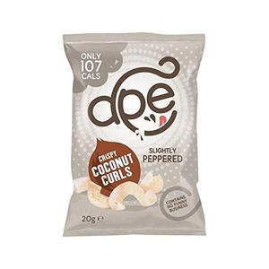 Ape Crispy Coconut Curls Peppered 20g - Pack of 2