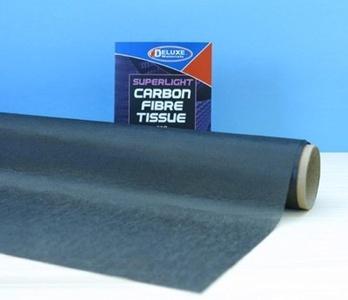 Deluxe Materials 75 x 33cm Superlight Carbon Fibre Tissue # BD62 by Deluxe Marterials