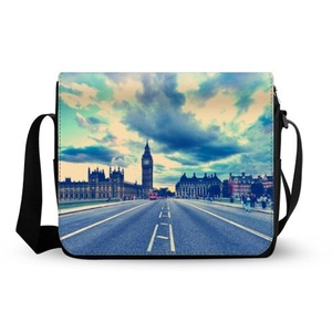 Beautiful Bridge Of London England Oxford Fabric Messenger Bag,Shoulder Bag