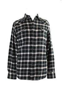 Polo Ralph Lauren Black Buffalo Plaid Western Shirt S