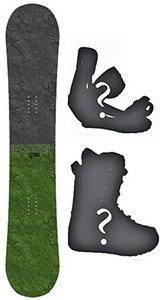 144cm Black Hole Ignition Rocker Snowboard, Build a Package with Boots and Bindings