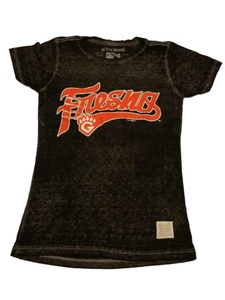 Fresno Grizzlies Retro Brand WOMENS Black Burnout