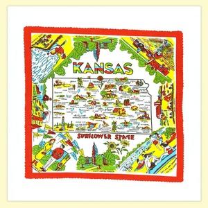 Kansas State Souvenir Dish Towel