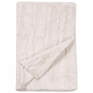 Embossed Faux Mink Blanket in White