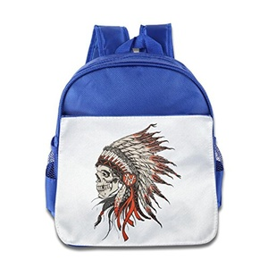 Funny Cool Kid's Cleveland Indians Chief Head Skull Bags Bookbags.