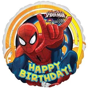 Ultimate Spiderman Balloon Happy Birthday 18'' Foil Anagram Balloons by Anagram Balloons