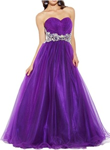 Gorgeous Bridal Sweetheart Empire Long Rhinestones Prom Evening Gown Lace Up- US Size 24W