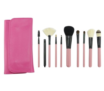 BestFire Makeup Brushes Professional 10 Pcs Handmade Wool Cosmetic Brush Set Foundation Eyeliner Blush Contour Brushes for Powder Cream Concealer Brush Kit Includes Free Case