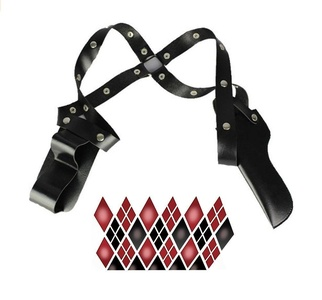 Fly Costume Halloween Pleather Shoulder Strap Holster Cosplay Costume Accessory